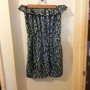 Gap ruffled multicolored dress